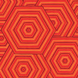 Hexagonal abstract Aboriginal line painting. In  format Royalty Free Stock Images