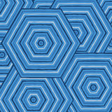 Hexagonal abstract Aboriginal line painting. In  format Royalty Free Stock Image