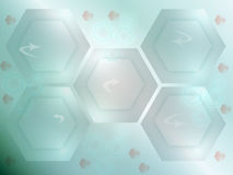 Hexagonal abstract background. Abstract background with hexagonal forms royalty free illustration
