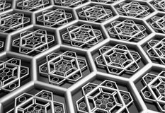 Hexagonal abstract background 3d illustration Stock Images