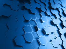 Hexagonal abstract background. 3d render Stock Images