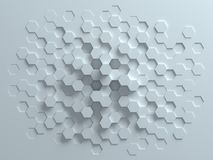 Hexagonal abstract background 3d rendering vector illustration
