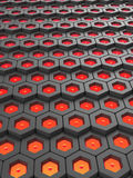 Hexagonal abstract background tech network compter texture high quality render. Hexagonal abstract 3d background tech network compter texture high quality render Royalty Free Stock Image