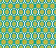 Hexagonal abstract floral pattern Stock Photo