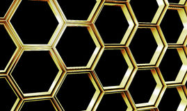 Hexagonal abstract wall background. Nano structure Royalty Free Stock Image
