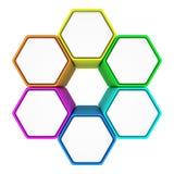 Hexagonal abstraction Stock Image