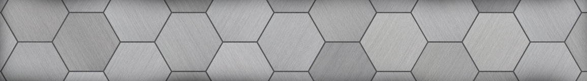 Hexagonal Aluminum Panoramic Metal Background (Letterbox Format) Stock Photos
