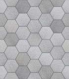 Hexagonal Aluminum Tiled Seamless Texture. Hexagonal brushed alunimun tiles as a high detail seamless background stock photo