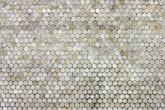 The hexagonal background. Tile on the wall stock image
