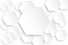 Hexagonal Background. Hexagonal white Background  cool sweet and clean Stock Image