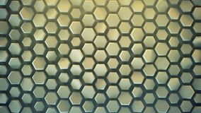 Hexagonal background abstract 3D render. Hexagonal background. Computer generated abstract graphics. 3D render Royalty Free Illustration