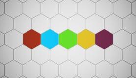 Hexagonal background Royalty Free Stock Photos