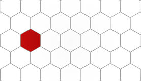 Hexagonal background concept Royalty Free Stock Images