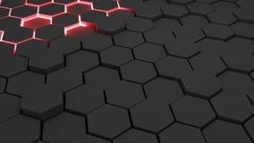 Hexagonal background. Pattern of dark hexagonal shapes Vector Illustration