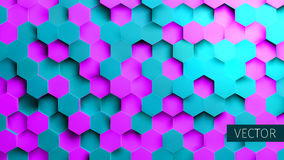 Hexagonal background. Toxic backdrop. Technology impression. Minimal pattern. For web stock illustration