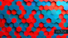 Hexagonal background. Toxic backdrop. Technology impression. For web royalty free illustration