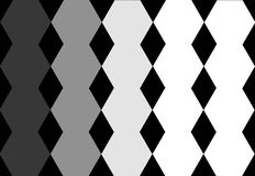 Hexagonal Black Grey White Geometric Design in Black Background. Abstract Texture. Can be used for cover design, book design, stock illustration