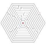 Hexagonal black maze Stock Photography