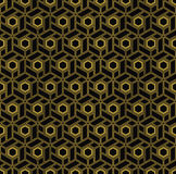 Hexagonal blocks in art deco style Royalty Free Stock Images