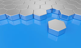 Hexagonal blocks Royalty Free Stock Photo