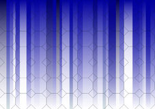 Hexagonal Blue Fading Business Graphic Royalty Free Stock Image