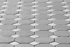 Hexagonal brick flooring background Royalty Free Stock Photography