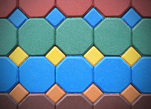 Hexagonal brick flooring background texture Stock Photography