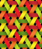 Hexagonal Bright Plastic Basketwork. Stock Images