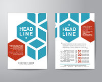Hexagonal brochure flyer design layout template in A4 size, with Royalty Free Stock Images