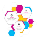 Hexagonal Business Background. A business themed background with colourful hexagons Stock Images