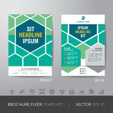 Hexagonal business brochure flyer design layout template in A4 s Stock Images