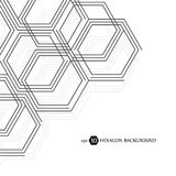 Hexagonal business pattern. Scientific medical research. Hexagons structure lattice. Geometric abstract background. Chemistry, science and technology concept Stock Image