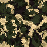 Hexagonal camouflage.Vector digital hexagon camo seamless pattern Royalty Free Stock Photo