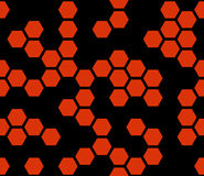 Hexagonal cells. Abstract geometric background. Stock Photos