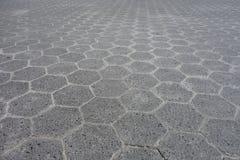 Hexagonal Cement Tiles Stock Photos