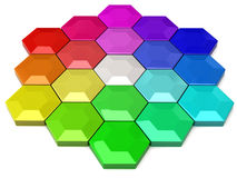 Hexagonal color wheel Stock Photography