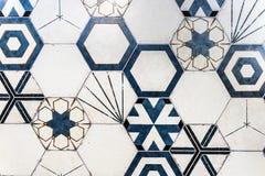 Hexagonal colorful modern bathroom, toilette or kitchen ceramic Royalty Free Stock Photos