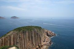 Hexagonal Columns in Hong Kong 3. Hexagonal Columns in Hong Kong, the UNESCO Global Geopark stock image
