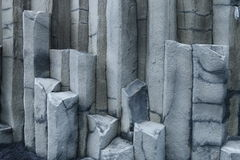 Hexagonal columns, Iceland. Royalty Free Stock Images