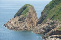 Hexagonal columns of volcanic origin at the Hong Konvvg Global Geopark in Hong Kong, China. royalty free stock photo