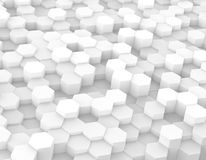 Hexagonal cubes background Royalty Free Stock Photography