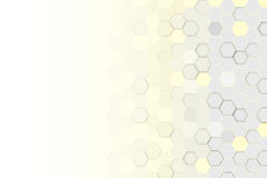 Hexagonal 3d abstract background. Hexagonal 3d abstract yellow and grey background stock photography