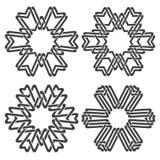 Hexagonal decorative symbols Stock Images