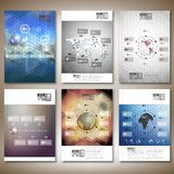 Hexagonal design infographic vectors. Brochure Royalty Free Stock Photo