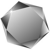 Hexagonal diamond against white Royalty Free Stock Image