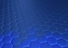 Hexagonal floor Royalty Free Stock Images