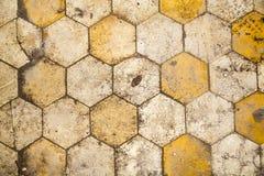 Hexagonal floor for backgrounds Stock Photography