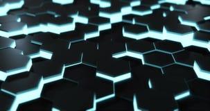 Hexagonal Floor Loop stock footage