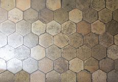 Hexagonal floor tiles Royalty Free Stock Image
