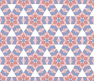 Hexagonal flower pattern. Abstract background or hexagonal flower pattern pink and serenity blue color Stock Images
